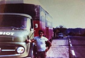 A. TESSIOT - Historique, photo de l'activité de déménagement en 1970.