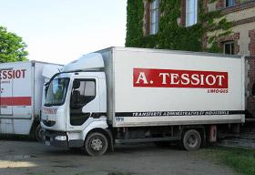 A. TESSIOT - Historique, photo de l'activité de déménagement en 2010.