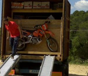 transport de moto en conteneur