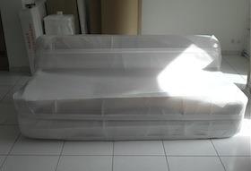 A. TESSIOT - Savoir-faire, emballage maritime d'un canapé