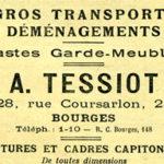 A. TESSIOT - Historique, photo de l'activité de déménagement en 1910.