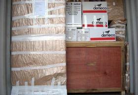 A. TESSIOT - Savoir-faire, finition du chargement d'un conteneur